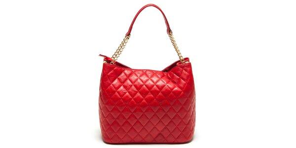 Dámska červená prešívaná kabelka Renata Corsi