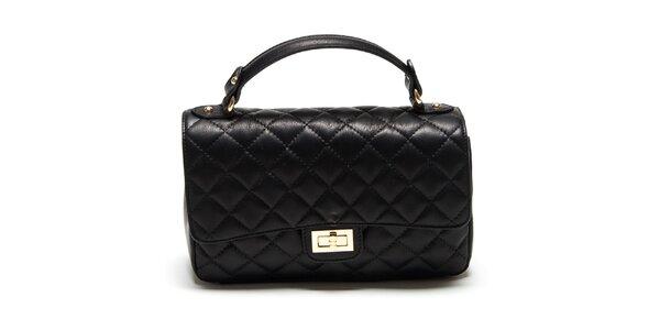 Dámska malá čierna prešívaná kabelka Renata Corsi