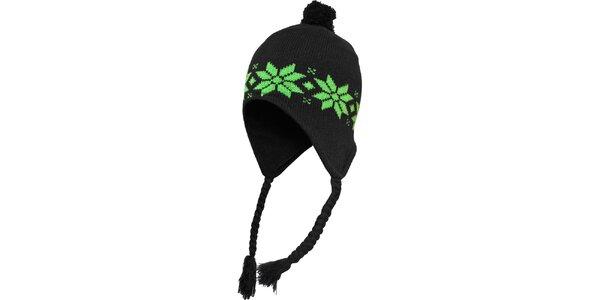 Čierno-zelená čiapka s nórskym vzorom Urban Classics