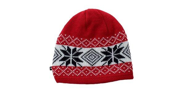 Červená čiapka s nórskymi motívmy Big Star