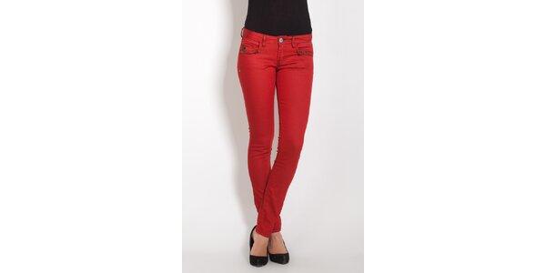 Dámske červené džínsy Lois