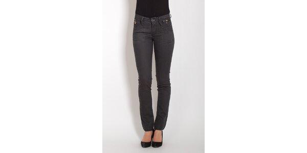 Dámske tmavo šedé džínsy Lois
