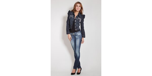 Dámska tmavo modrá džínsová bunda Lois