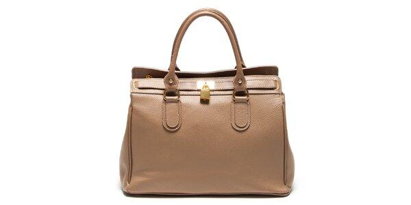 Dámska béžová kabelka so zámčekom Renata Corsi