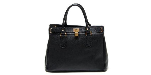Dámska čierna kabelka so zámčekom Renata Corsi
