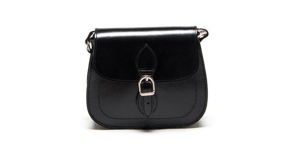 Dámska čierna zaoblená kabelka Renata Corsi