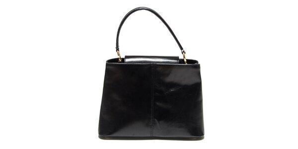 Dámska lesklá čierna kabelka Renata Corsi