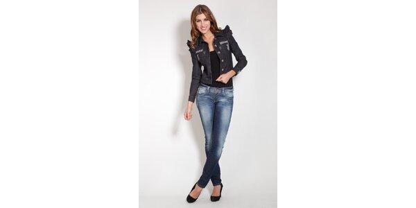 Dámska čierna džínsová bunda Lois