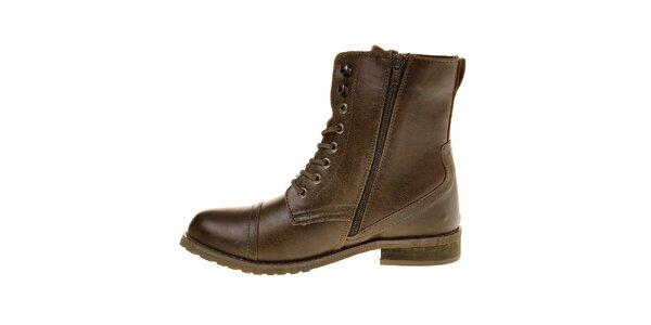 Dámske khaki kotníčkové topánky Buffalo