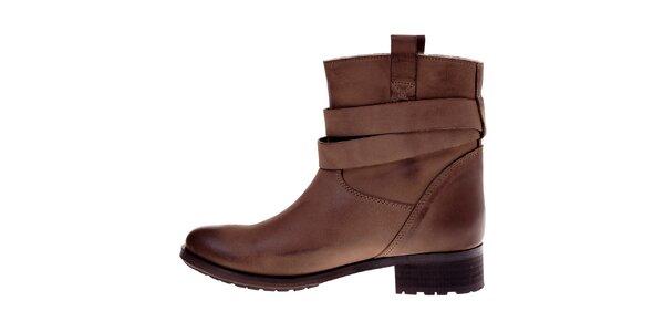 Dámske hnedé kožené topánky Buffalo