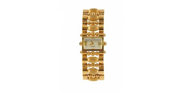 Dámske zlaté oceľové hodinky Gianfranco Ferré s ozdobným remienkom a…