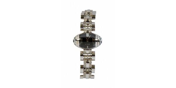 Dámske oceľové náramkové hodinky Gianfranco Ferré s čiernym ciferníkom