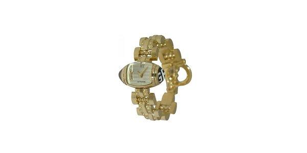Dámske zlaté náramkové hodinky Gianfranco Ferré s bielym ciferníkom