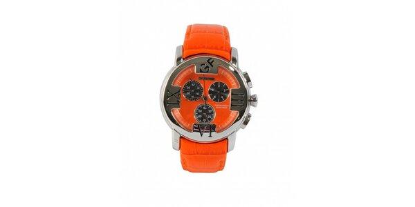 Dámske oceľové hodinky Gianfranco Ferré s oranžovým remienkom