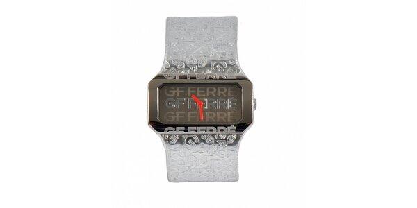 Dámske oceľové hodinky Gianfranco Ferré so strieborným koženým remienkom