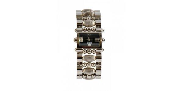 Dámske oceľové hodinky Gianfranco Ferré s ozdobným remienkom a čiernym…
