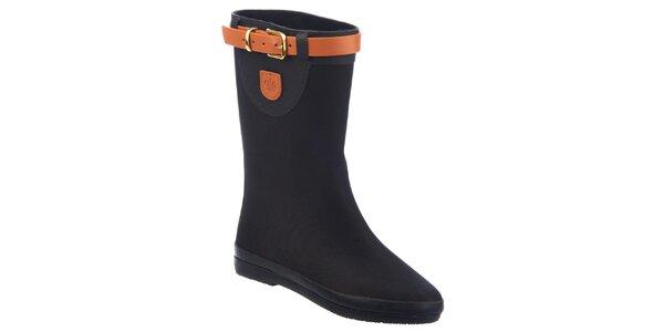 Dámske topánky s oranžovou prackou Keddo