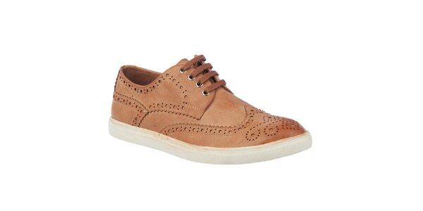 Pánske svetlo hnedé topánky Tesoro