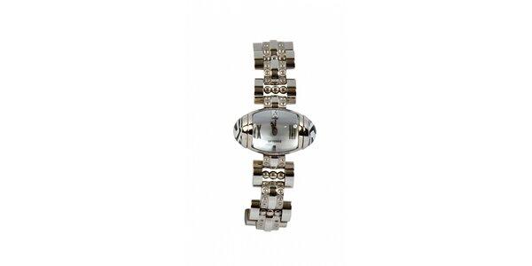 Dámske oceľové náramkové hodinky Gianfranco Ferré so strieborným ciferníkom