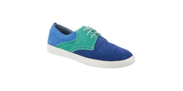 Pánske modro-zelené topánky Tesoro