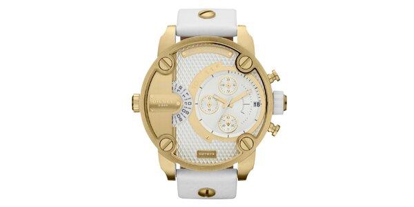 Pánske zlaté hodinky Diesel s multifunkčným ciferníkom