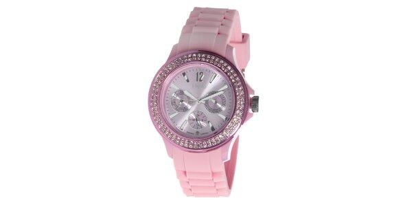Ružové hodinky NuVo so Swarovski Elements