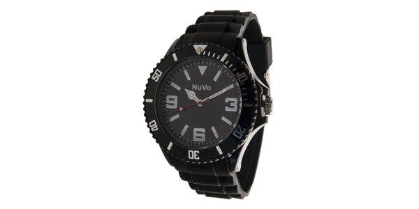 Čierne analógové hodinky NuVo