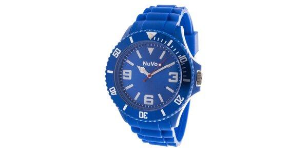Modré analógové hodinky NuVo