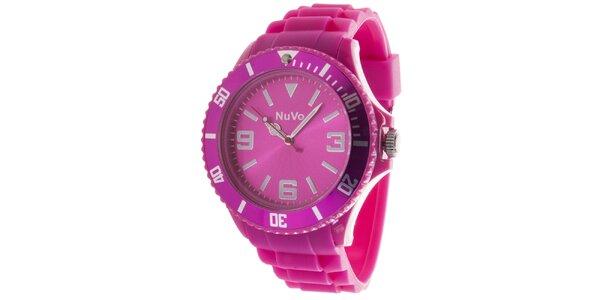 Ružové analógové hodinky NuVo
