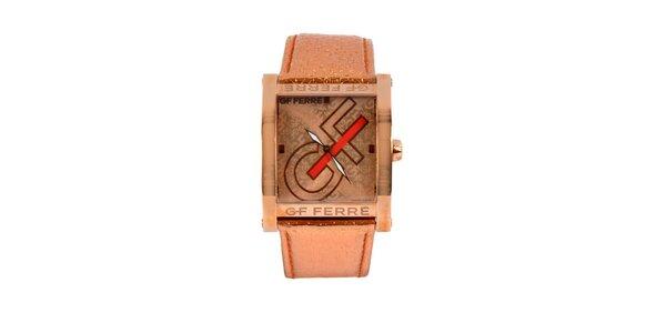 Dámske oceľové hodinky Gianfranco Ferré v odtieni ružového zlata