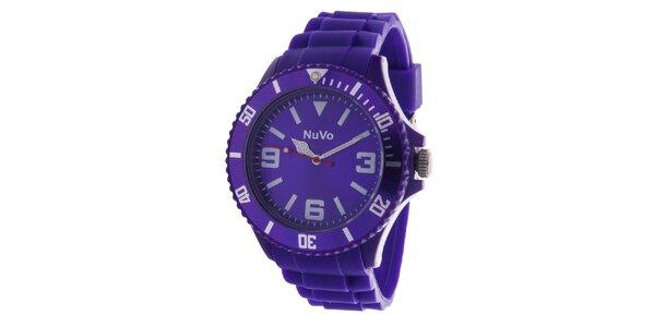 Fialové analógové hodinky NuVo