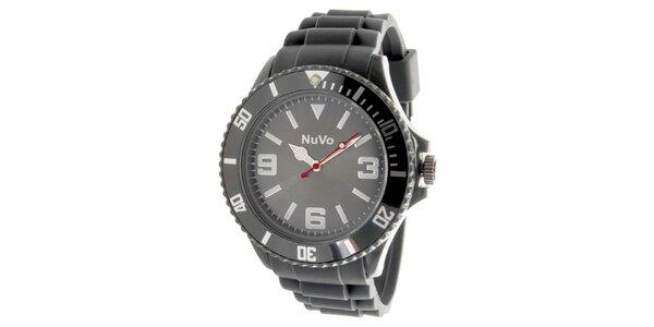 Šedé analógové hodinky NuVo