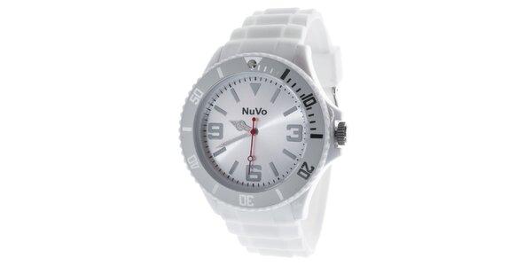 Biele analógové hodinky NuVo