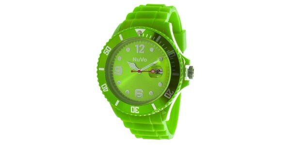 Zelené hodinky s dátumovkou NuVo