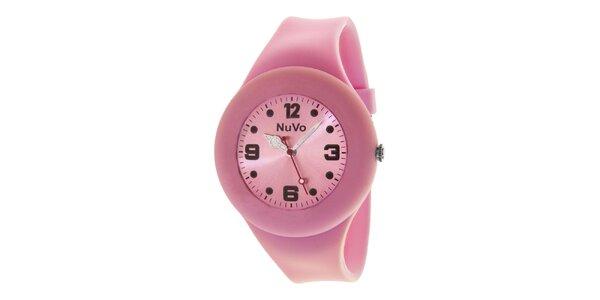 Svetlo ružové hodinky s hladkým remienkom NuVo