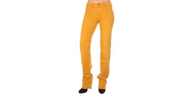 Dámske horčicovo žlté džínsy Diesel