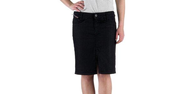 Dámska čierna džínsová sukňa Diesel