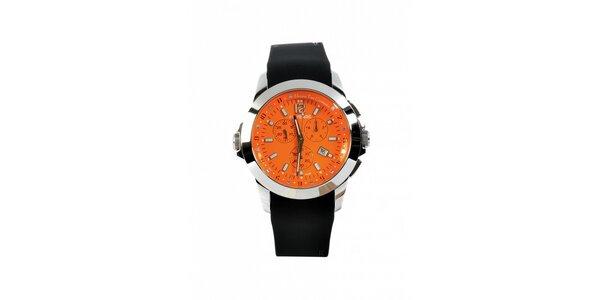 Dámske oceľové hodinky Gianfranco Ferré s čiernym silikonovým remienkom