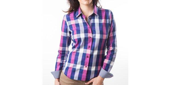 Dámska modro-béžová kockovaná košeľa Lexa Slater
