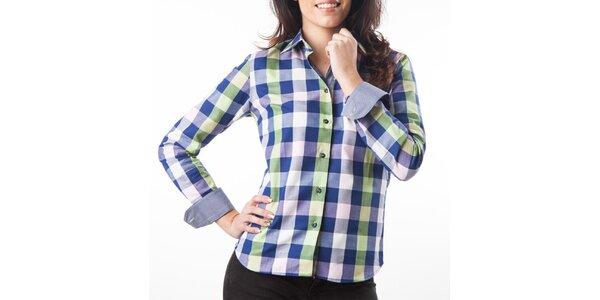 Dámska modro-zelená kockovaná košeľa Lexa Slater