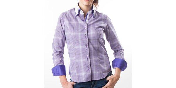 Dámska košeľa s fialovými kostičkami Lexa Slater