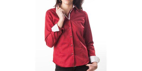 Dámska červená bodkovaná košeľa Lexa Slater