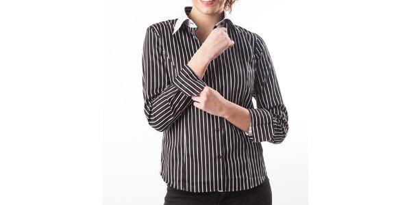 Dámska čierna košeľa s prúžkami Lexa Slater