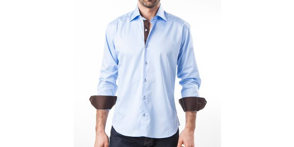 Pánska modrá košeľa s dlhým rukávom Lexa Slater