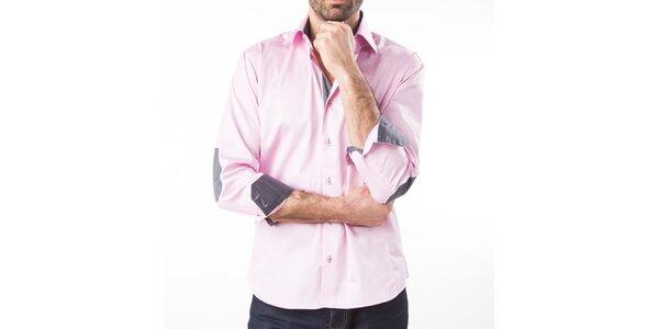 Pánska ružová košeľa s dlhým rukávom Lexa Slater