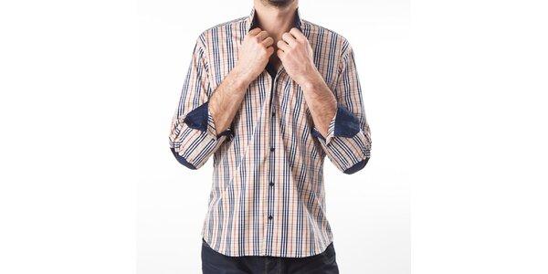 Pánska béžová košeľa s kostičkami Lexa Slater
