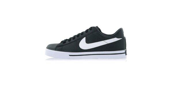 Pánske čierne tenisky s bielym logom Nike
