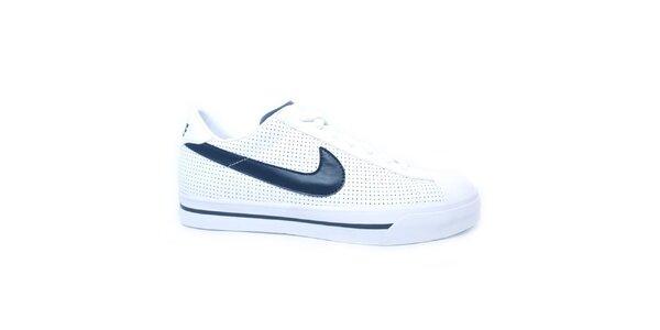 Pánske biele tenisky s modrým logom Nike