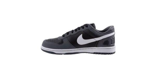 Pánske šedo-čierne tenisky s bielymi prvkami Nike
