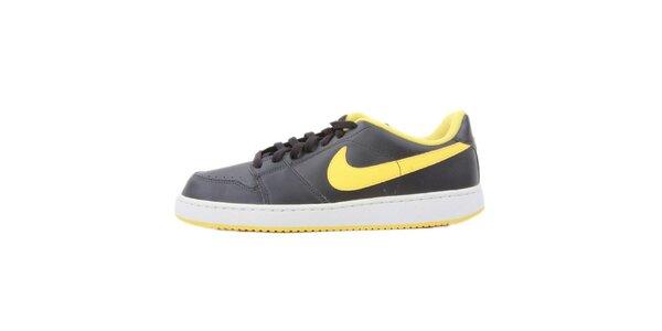 Pánske čierne tenisky so žltými prvkami Nike